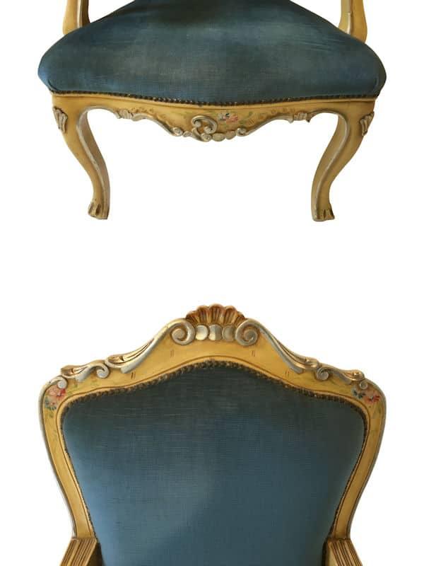 Poltrona barocco veneziano argento   Mobilifici Riuniti Busiol shop