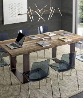 Tavolo Con Piano In Legno Di Ontano