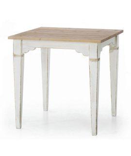 Tavolo In Abete Laccato Bianco
