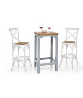 Tavolino Bar In Laccato In Azzurro