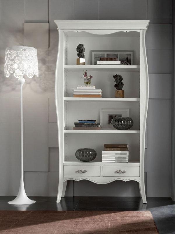 Libreria in legno con due cassetti | Mobilifici Riuniti Busiol shop