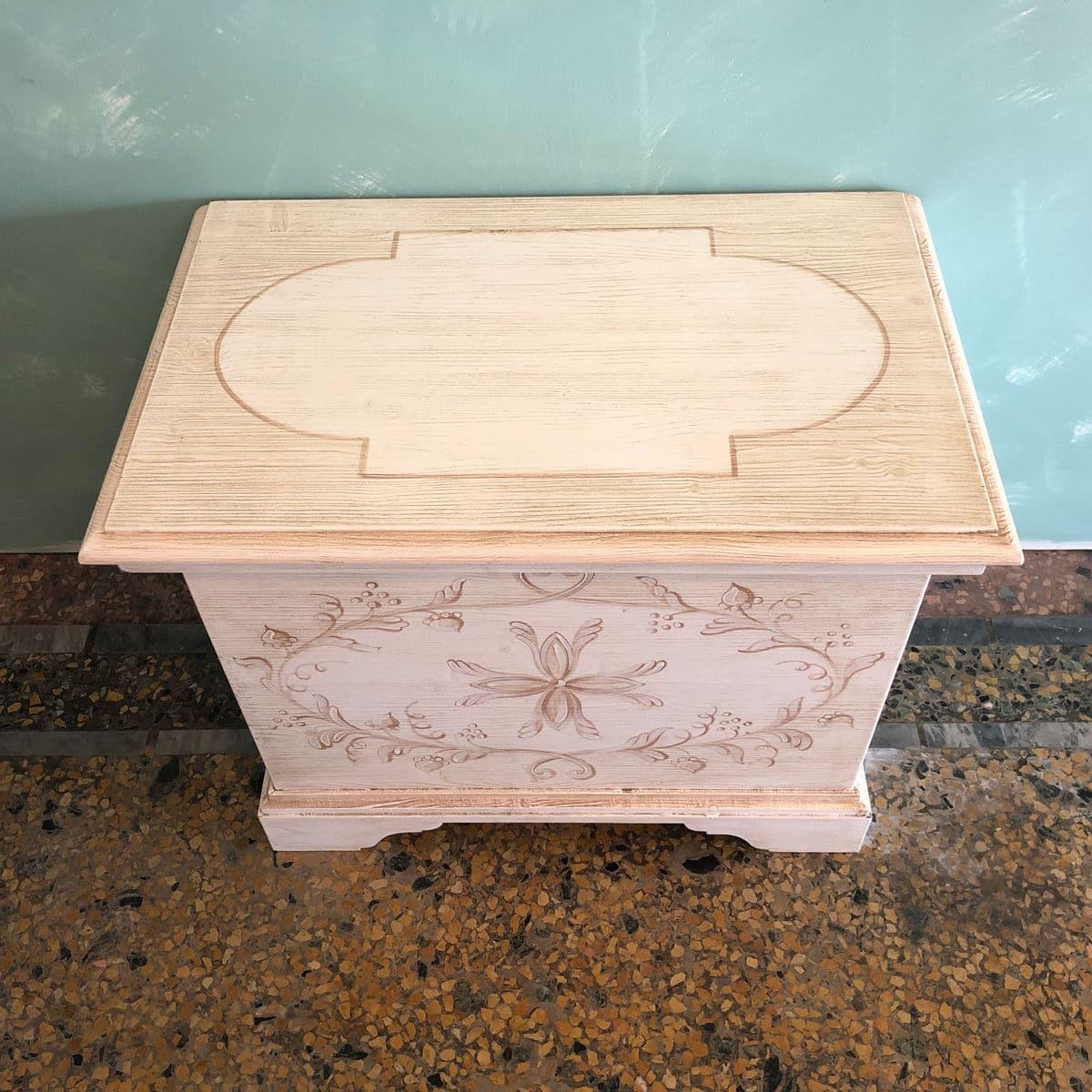cassapanca contenitore in legno